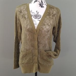 Free People Open Weave Cardigan